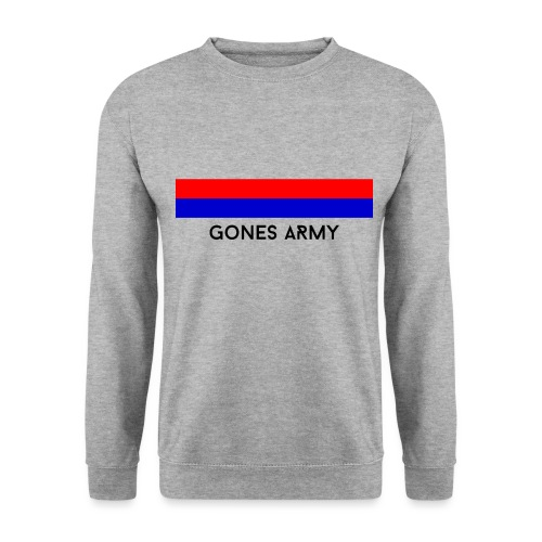 Design Rouge et Bleu Text - Sweat-shirt Homme