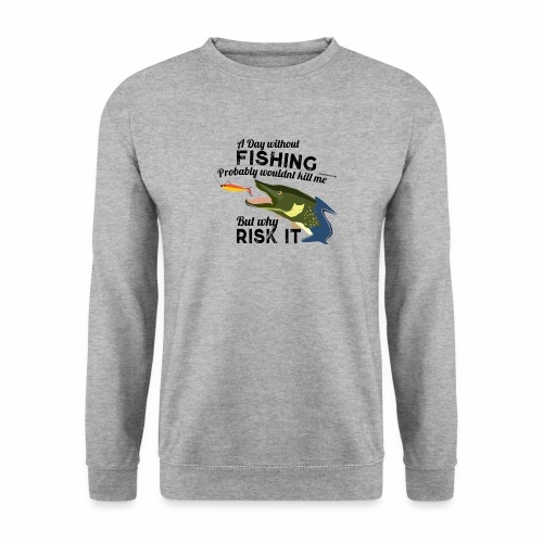 A Day without Fishing Hecht Pike Fishyworm Angel - Unisex Pullover