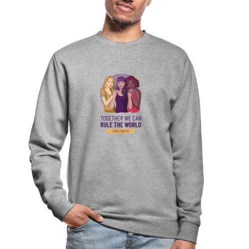 t shirt design generator featuring three women - Sudadera unisex