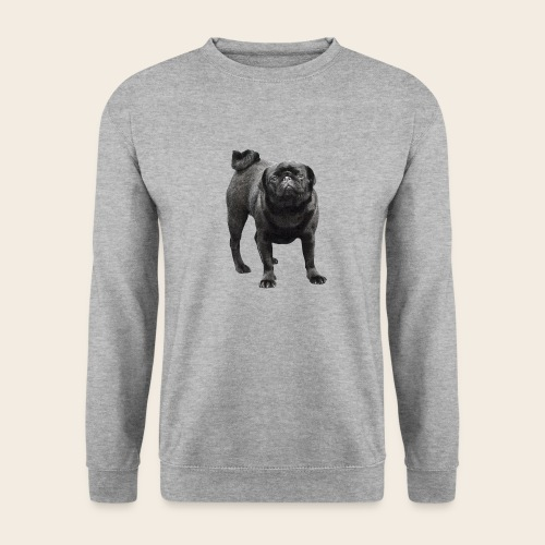 schwarzer Mops - Unisex Pullover