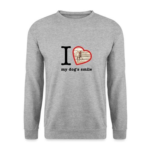 I love my dog's smile :) dog smile - Men's Sweatshirt