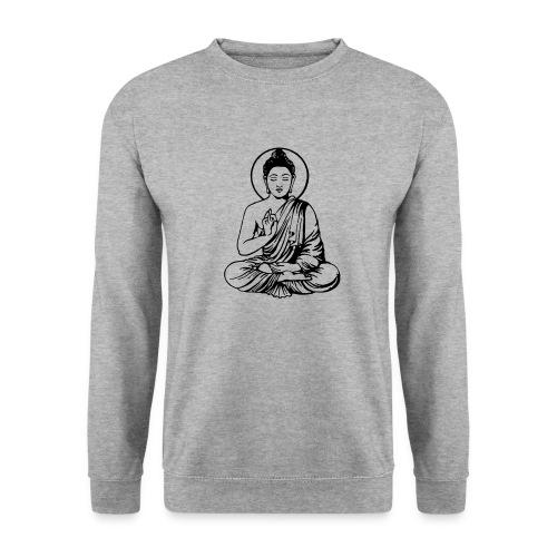 Buddha-Vektor-Outline - Männer Pullover