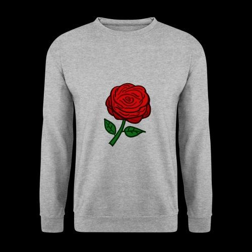 Rote Rose - Männer Pullover