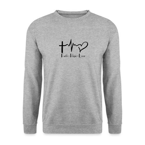 faith hope love - Sweat-shirt Homme