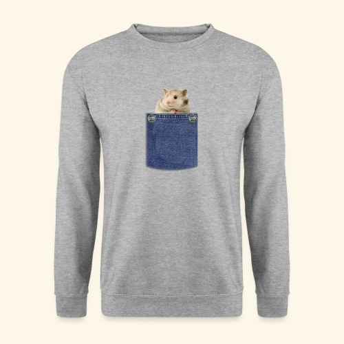 hamster in the poket - Felpa unisex