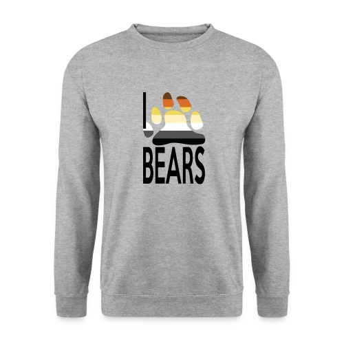 I love bears - Sweat-shirt Unisex