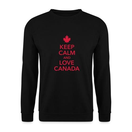 keep calm and love Canada Maple Leaf Kanada - Unisex Sweatshirt