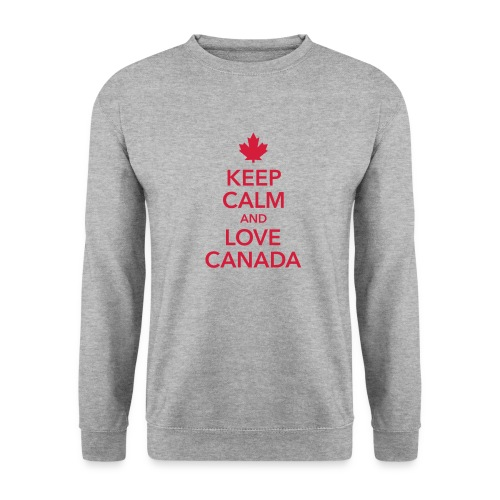 keep calm and love Canada Maple Leaf Kanada - Men's Sweatshirt