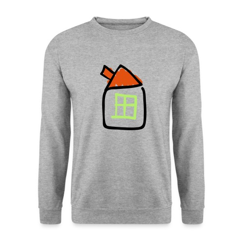House Line Drawing Pixellamb - Unisex Pullover