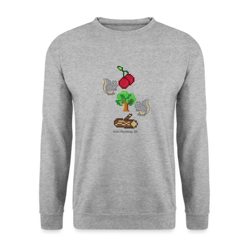 8 Bit Style Cherry Tree Wood Graphic - Unisex Sweatshirt