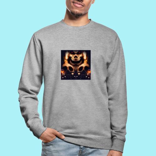Tête de mort à la chandelle - Sweat-shirt Unisexe