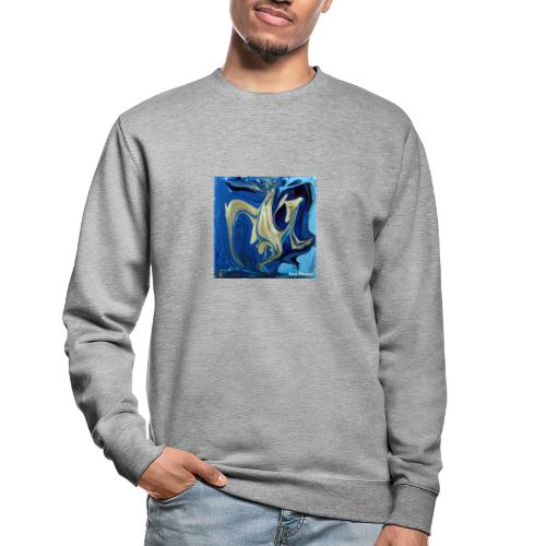 TIAN GREEN Welt Mosaik - AT042 Blue Passion - Unisex Pullover
