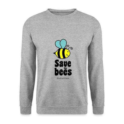 Bees9-1 save the bees | Bienen Blumen Schützen - Men's Sweatshirt
