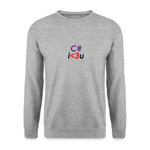 C# is love - Felpa unisex