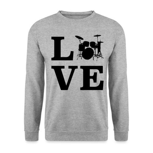 I Love Drums / Schlagzeug T Shirt für Schlagzeuge - Männer Pullover