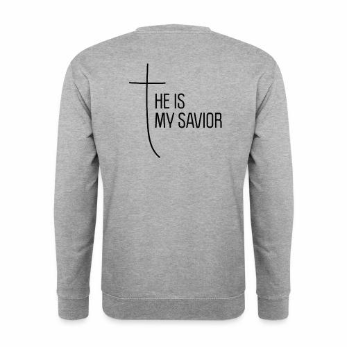 HE IS MY SAVIOR - Männer Pullover
