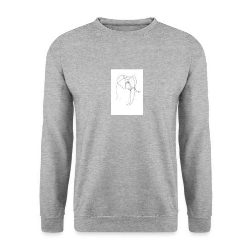 ONE LINE ELEPHANT - Unisex sweater