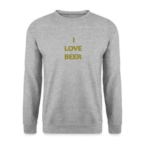 I LOVE BEER - Felpa unisex