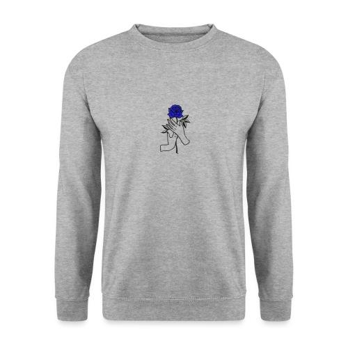 Fiore blu - Felpa unisex