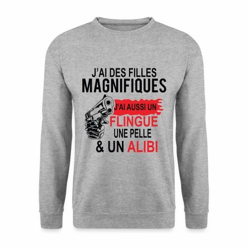 J'AI DEUX FILLES MAGNIFIQUES Best t-shirts 25% - Sweat-shirt Unisexe