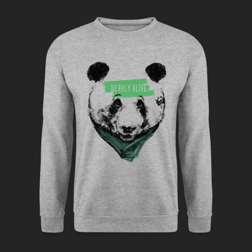 Panda bearly alive - Sweat-shirt Unisexe