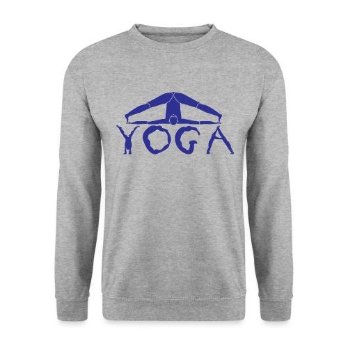 yoga yogi blu namaste pace amore hippie sport art - Felpa unisex