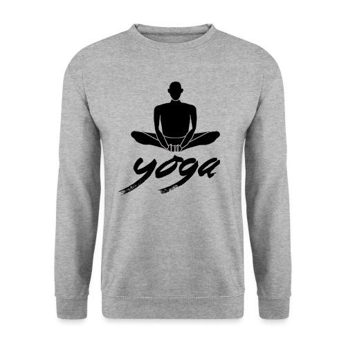 yoga nero yogi namaste pace amore arte hippie - Felpa unisex