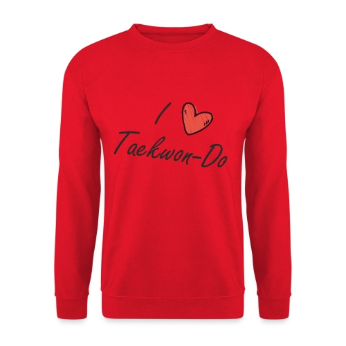 I love taekwondo letras negras - Sudadera unisex