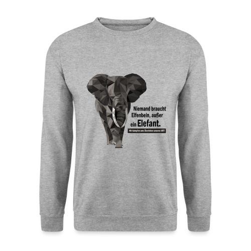 Niemand braucht Elfenbein, außer ein Elefant! - Unisex Pullover