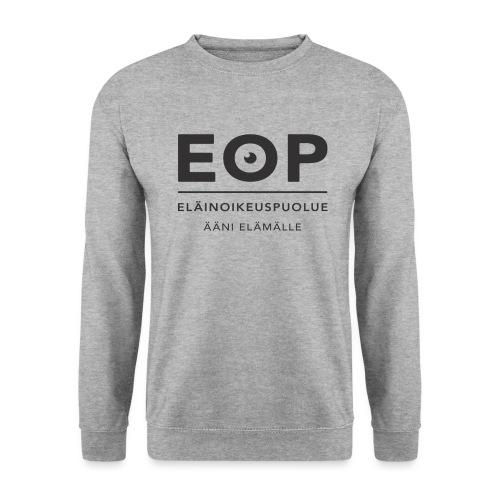 EOP Logo slogan musta - Unisex svetaripaita