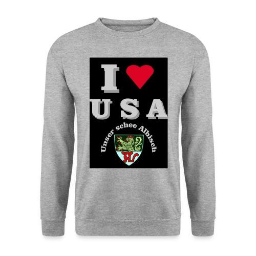 i love usa fuer schwarzes t shirt - Unisex Pullover