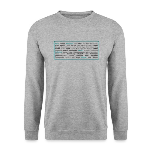 Composers Cloud (Bach–Webern) - Unisex Pullover