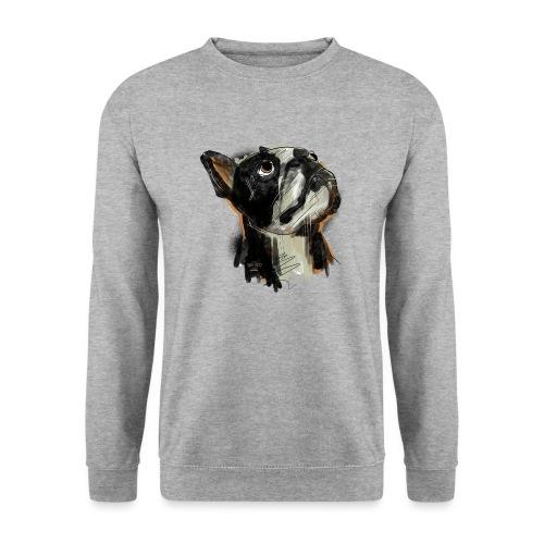 Französische Bulldogge Zeichnung - Unisex Pullover