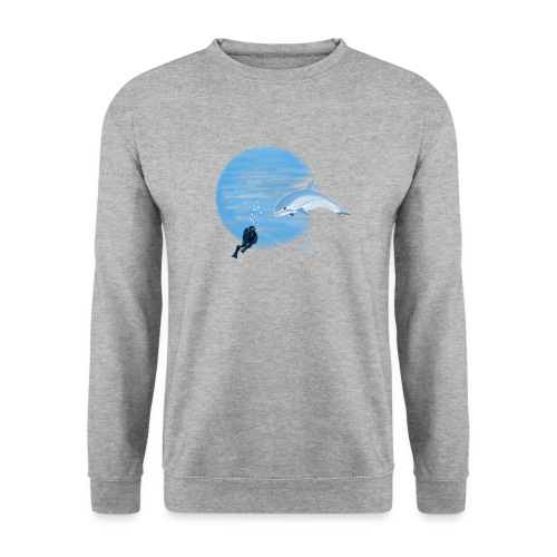 Dolphin and diver - Maillots - Sweat-shirt Unisexe