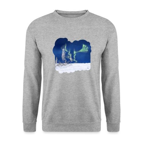 hiver avec des aurores boréales - Sweat-shirt Unisexe