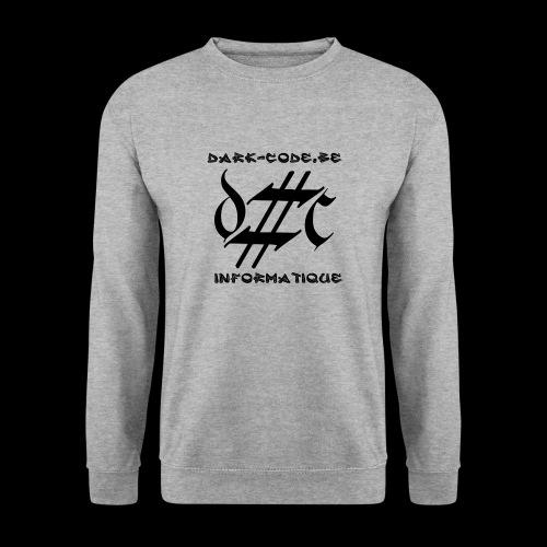 Dark-Code Black Gothic Logo - Sweat-shirt Unisexe
