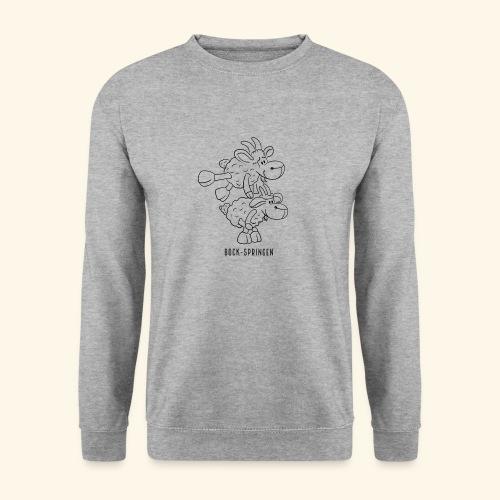 Schafbock: Bock springen - schwarz - Unisex Pullover