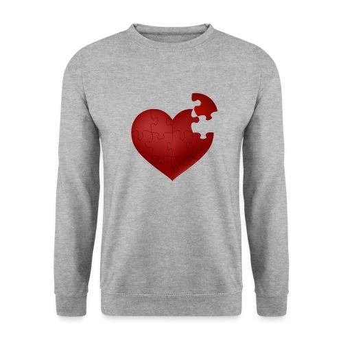 Coeur en puzzle - Sweat-shirt Unisexe