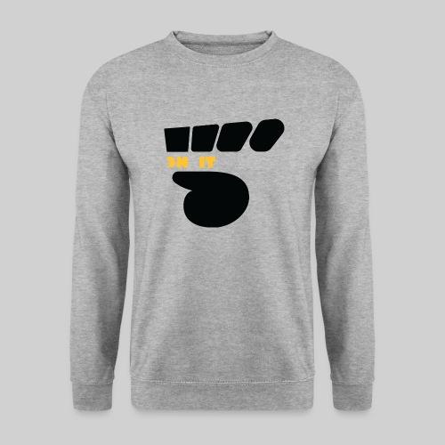 Logo 5 on It noir / jaune - Sweat-shirt Unisexe
