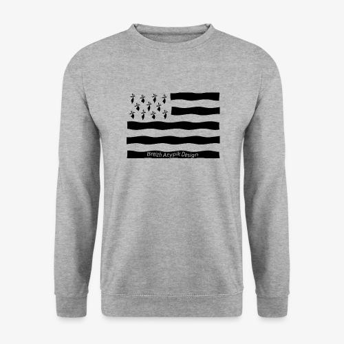 Gwenn ha Du-Noir fond transparent - Sweat-shirt Unisexe