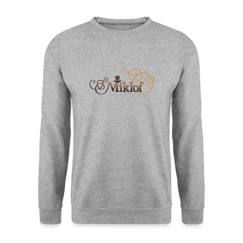 miklof logo gold wood gradient 3000px - Unisex Sweatshirt