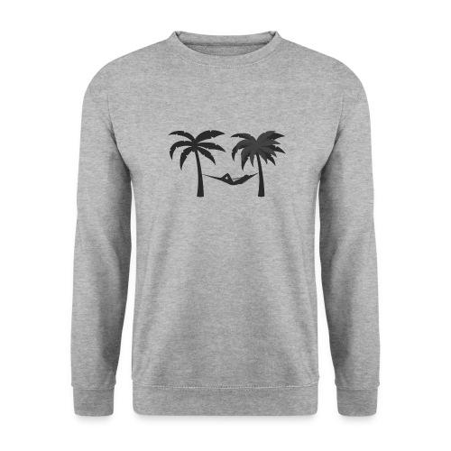 Hängematte mitzwischen Palmen - Unisex Pullover