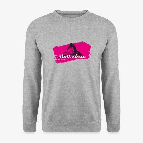 Matterhorn - Cervino en rosa - Unisex Sweatshirt