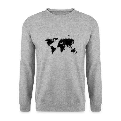 Weltkarte Splash - Unisex Pullover