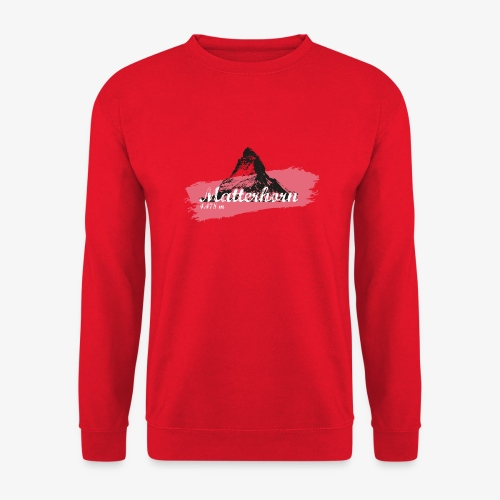 Matterhorn - Cervino - Color Coral - Unisex Sweatshirt