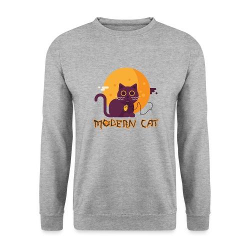 gatto moderno animale topo luna arte animale domestico - Felpa unisex