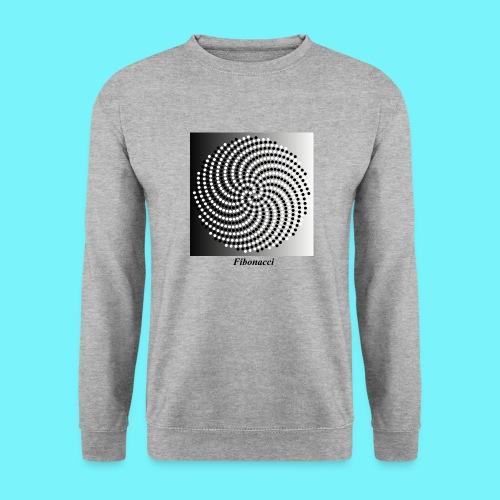 Fibonacci spiral pattern in black and white - Unisex Sweatshirt