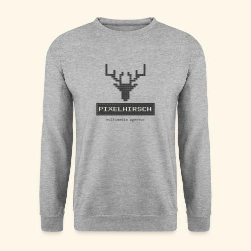 PIXELHIRSCH - grau - Unisex Pullover
