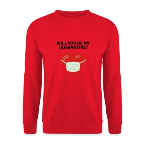 Herz mit Mundschutz und Schriftzug - Unisex Pullover