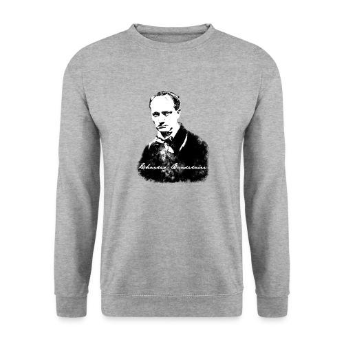 Baudelaire (fond blanc) + signature - Sweat-shirt Unisexe